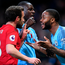 What's the Mata: Juan Mata makes his feelings clear to Raheem Sterling after accusing the Manchester City player of show-boating late in the game. Photo: Getty