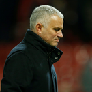 Jose Mourinho criticised his side's intensity. Photo: Reuters