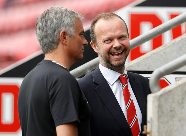 Woodward: Delivered Mourinho news. Photo: Action Images via Reuters