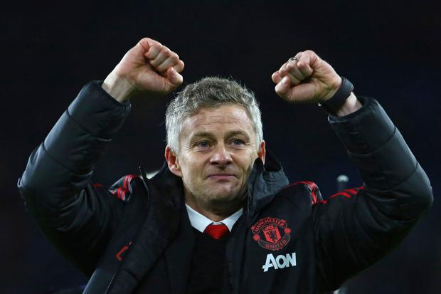 Gunnar for glory: Ole Gunnar Solskjaer made a winning start to his stint as Manchester United's caretaker manager. Photo: AFP/Getty Images