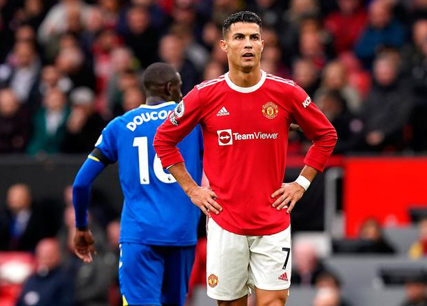 Cristiano Ronaldo was not started against Everton at Old Trafford. Photo: PA Wire