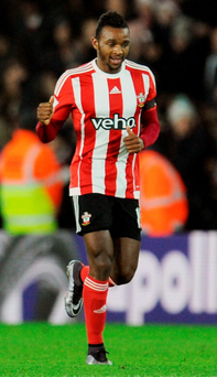 Cuco Martina celebrates his goal Photo: PA