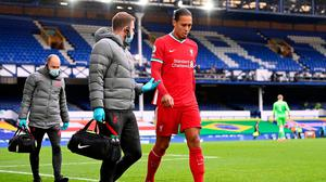 Virgil van Dijk hasn't played since getting injured against Everton in October. Photo: PA/wire