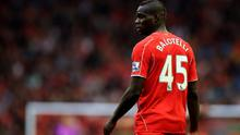 Liverpool's Mario Balotelli during the Barclays Premier League match at Anfield, Liverpool