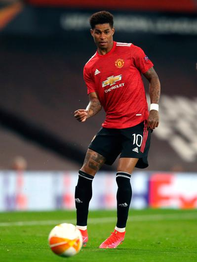 On the mend: Manchester United forward Marcus Rashford. Photo: PA Wire