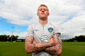 Ireland star James McClean, who is from Derry