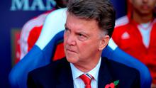 Manchester United manager Louis van Gaal before the match at Selhurst Park
