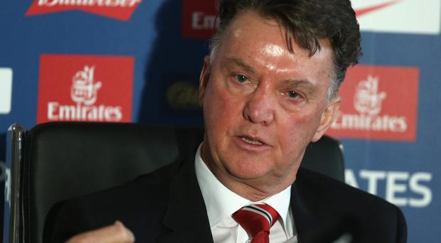 Manchester United boss Louis van Gaal was in defiant form ahead of tonight's FA Cup clash against Derby. Photo: Getty