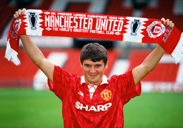 Roy Keane is unveiled as a Manchester United player in July 1993 Photo: Getty