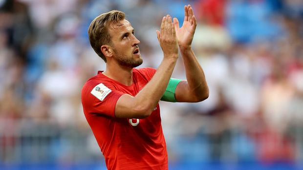 Harry Kane leads England to their first World Cup semi-final since 1990 (Tim Goode/PA)