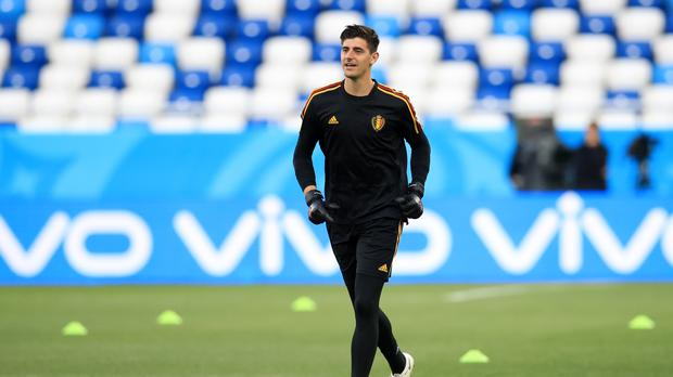 Thibaut Courtois has clarified his remarks about Jordan Pickford (Adam Davy/PA)