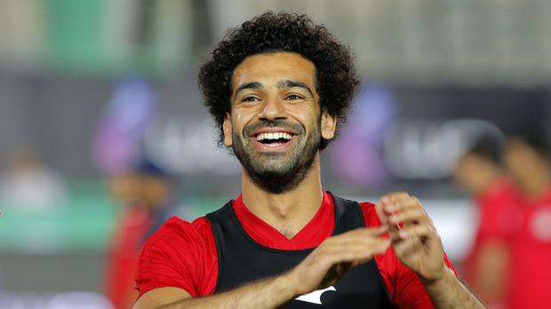 Mo Salah is stepping up his training with Egypt (Amr Nabil/AP)