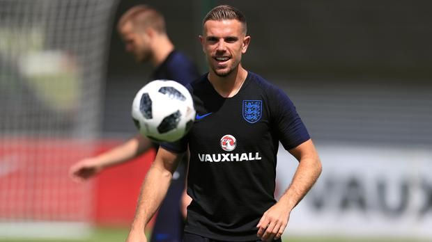 England's Jordan Henderson was picked to start ahead of Eric Dier in the England side (Mike Egerton/PA)
