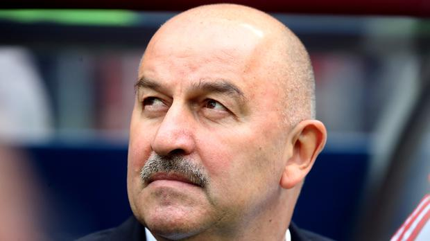 Stanislav Cherchesov guided Russia to a 5-0 win on Thursday (Adam Davy/PA)