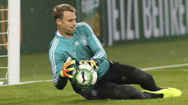 Manuel Neuer is ready to start for Germany in their World Cup opener (Ronald Zak/AP)