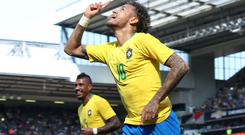 Neymar has scored 55 goals for his country (Nick Potts/PA)