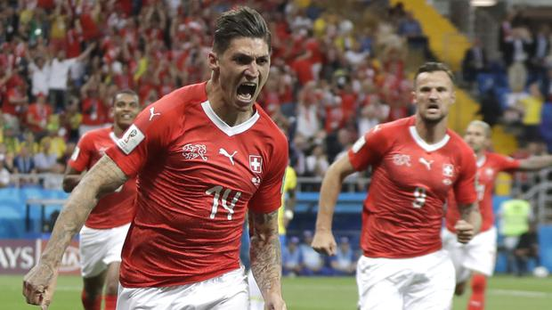 Steven Zuber grabbed a point for Switzerland (Themba Hadebe/AP)