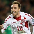 Christian Eriksen was a key man for Denmark on the road to Russia 2018 (Brian Lawless/PA)