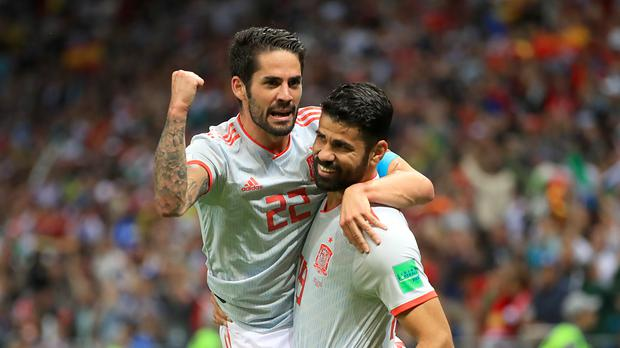 Diego Costa grabbed the winner as Spain squeezed past Iran (Adam Davy/Empics)