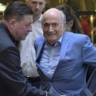 Sepp Blatter is in Russia for the World Cup (Dmitry Serebryakov/AP)