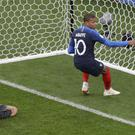 Kylian Mbappe nets the winner (Mark Baker/AP)
