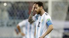 Lionel Messi and Argentina were hammered 3-0 by Croatia on Thursday (Petr David Josek/AP)