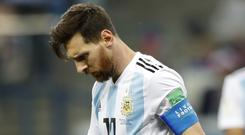 Lionel Messi's Argentina are in danger of being knocked out of the World Cup (Pavel Golovkin/PA)