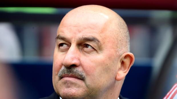 Stanislav Cherchesov has little time for those who think there is something sinister fuelling his team's hard-running style (Adam Davy/PA)