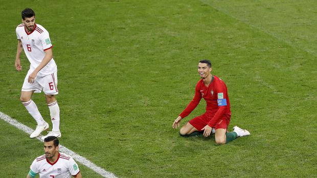 It was not Cristiano Ronaldo's night against Iran (Darko Bandic/AP)