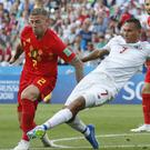 Belgium's Toby Alderweireld, pictured left, will be gunning for World Cup victory over England (Antonio Calanni/AP)