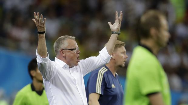 Janne Andersson was angry with Germany's reaction (Michael Probst/AP)