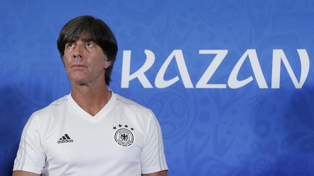 Germany head coach Joachim Low saw his side recover from losing the opening game against Mexico to close in on qualification for the last 16 of the World Cup. (Michael Probst/AP Photo)