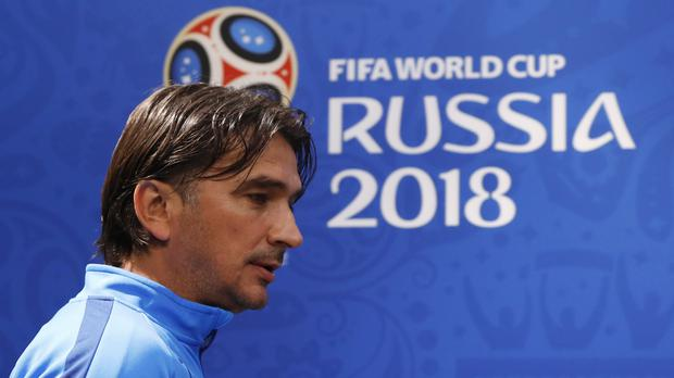 Croatia Zlatko Dalic has played down talk of his side being potential World Cup winners (Credit: Petr David Josek/AP).