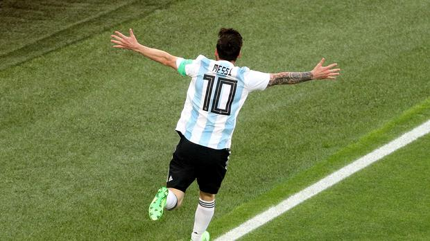 Lionel Messi scored a fine goal as Argentina beat Nigeria 2-1 at the World Cup on Tuesday night (Owen Humphreys/PA Images)