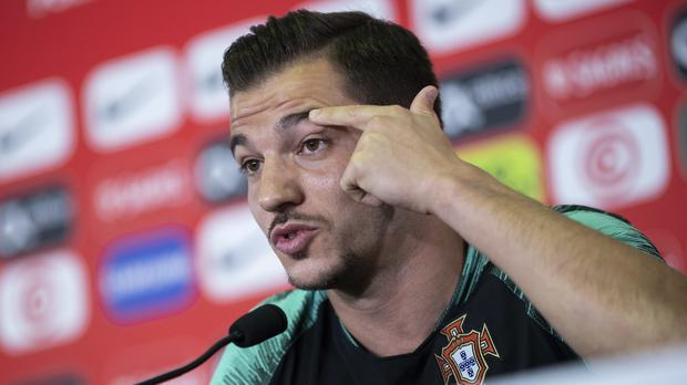 Cedric Soares is relishing Poertugal's World Cup clash with Uruguay (Francisco Seco/AP)
