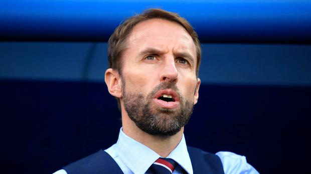 Gareth Southgate on the sidelines in Kaliningrad (Adam Davy/PA)