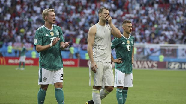 The 2014 world champions Germany were the shock casualty of the World Cup group stages