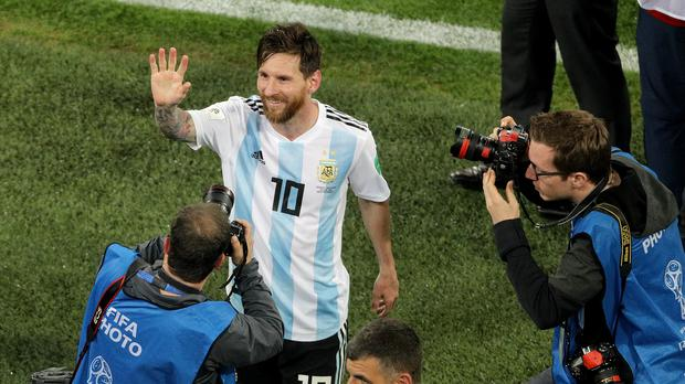 Lionel Messi will hope to help Argentina beat France in the World Cup (Owen Humphreys/PA)