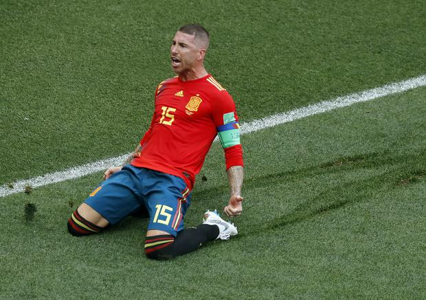 Sergio Ramos in action at last year's World Cup. (AP).