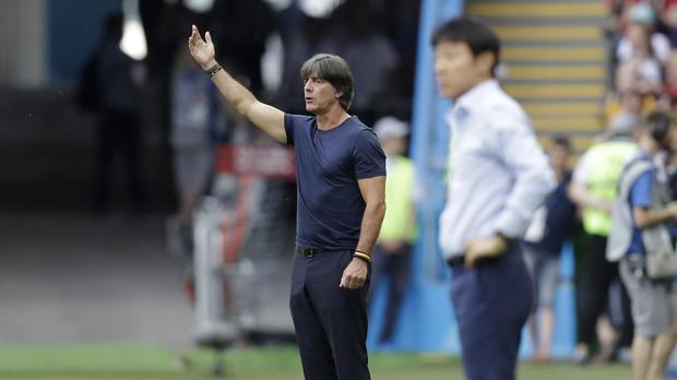 Joachim Low intends to stay on as Germany boss (Michael Probst/AP)