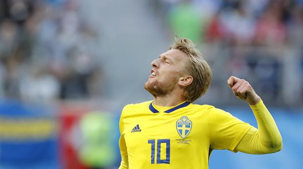 Emil Forsberg carries a lot of Sweden's creative burden (Efrem Lukatsky/AP)