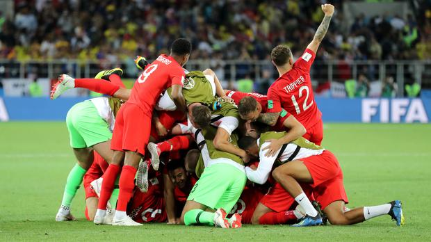 England defied the history books to win a penalty shoot-out at the World Cup. (Owen Humphreys/PA Images)
