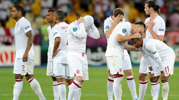 England lost a fifth straight penalty shoot-out at a major tournament following defeat to Italy at Euro 2012 (Anthony Devlin/PA)
