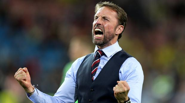 Will England manager Gareth Southgate be celebrating all the way to the World Cup final on July 15? (Owen Humphreys/PA Images)