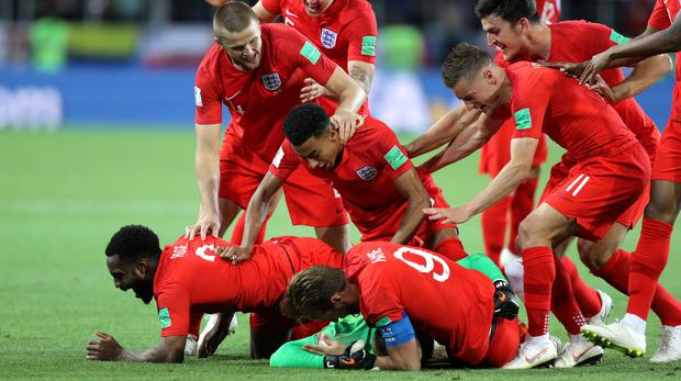 England's penalty shootout win against Colombia was the UK's most watched television event since 2012, according to ITV (Owen Humphreys/PA)