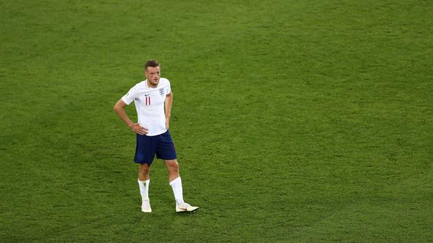Jamie Vardy was the only absentee from England training on Thurday (Tim Goode/PA)