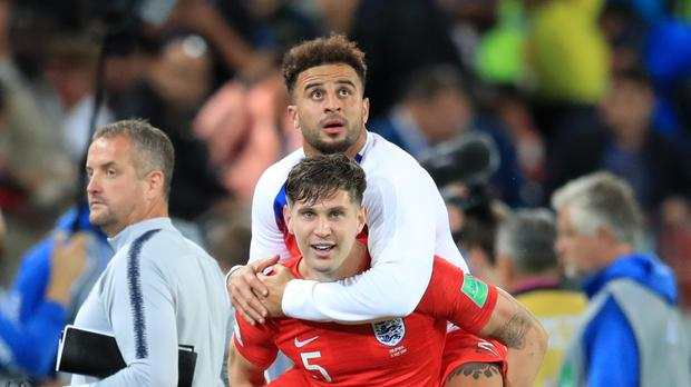 Kyle Walker and England are on a high (Adam Davy/PA)
