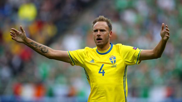 Sweden's Andreas Granqvist intends to stop Harry Kane on Saturday (John Walton/PA)