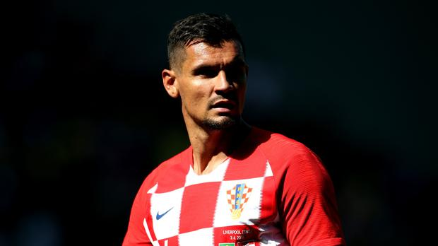 Liverpool's Dejan Lovren plays in defence for Croatia