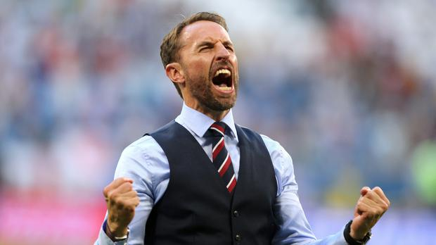 Will England manager Gareth Southgate be celebrating on Wednesday night? (Owen Humphreys/PA)